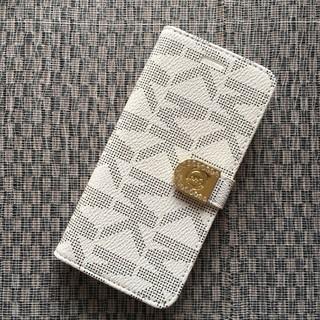 マイケルコース(Michael Kors)の箱なし B級品 iPhone7 8 ホワイト 手帳型ケース モノグラム(iPhoneケース)