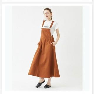 ティティベイト(titivate)のティティベイトのオーバーオールスカート titivate ブラウン新品 サイズS(サロペット/オーバーオール)