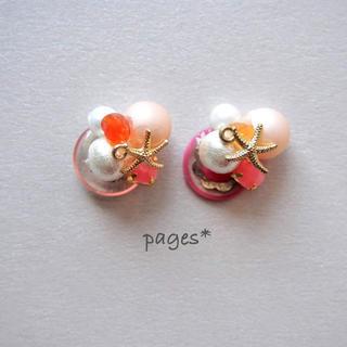 夏ビジューピアス/イヤリング -SANGO-(ピアス)