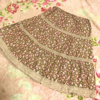 【着画あり】リズリサ♡ナチュラル系花柄スカート