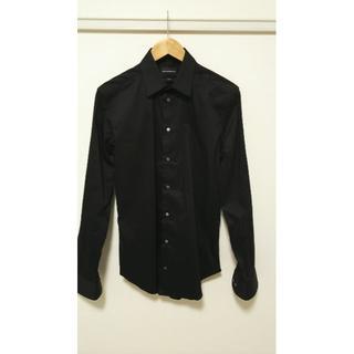 Emporio Armani - エンポリオアルマーニ 長袖 黒シャツ 新品 未使用 ¥40000
