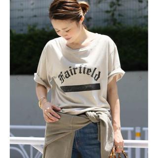 DEUXIEME CLASSE - Deuxieme Classe プリントTシャツ 「Fairfield」ベージュ