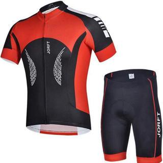 サイクルジャージ Mサイズ 半袖 上下セット 夏 男性用 スポーツウェア