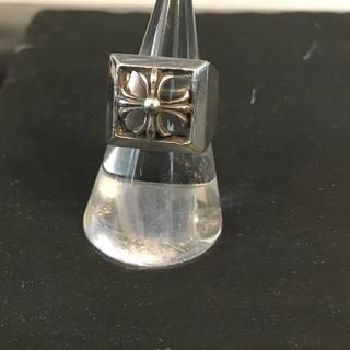 シルバー アクセサリー リング 925 silver クロス 柄 18号 指輪(リング(指輪))