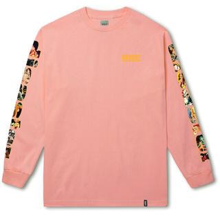 ハフ(HUF)の新品 ※値下げ交渉可能!!HUF ピンク ロンT (Tシャツ/カットソー(七分/長袖))