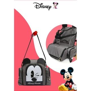Disney - マザーズリュック/マザーズバッグ/ベビーチェア/グレー×ミッキーデザイン