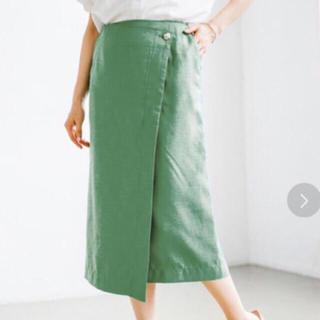 アパートバイローリーズ(apart by lowrys)のPボタンラップタイトスカート  アパートバイローリーズ  ラップスカート(ひざ丈スカート)