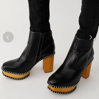 moussy - MOUSSY マウジー WOOD SOLE BOOTS