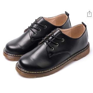 マーチンシューズ 男女兼用 ワークブーツ ローカット革靴 レースアップ ショット(ブーツ)