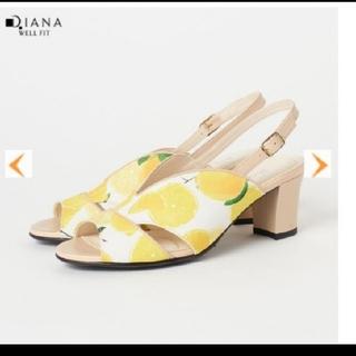 ダイアナ(DIANA)のDIANA ダイアナ サンダル ミュール レモン柄 キャンバス地  かねまつ(サンダル)