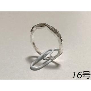 00102【レディース指輪】シルバー 16号(リング(指輪))