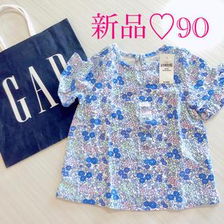 babyGAP - babygap 花柄 トップス フリル Tシャツ 90 新品