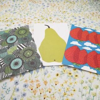 マリメッコ(marimekko)のマリメッコポストカード 3枚 新品(写真/ポストカード)