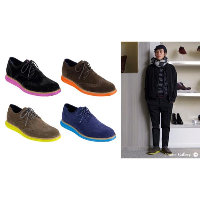 Cole Haan(コールハーン)のレア コールハーン ルナグランド 9.5M 27.5cm ブラック ピンク 嵐 メンズの靴/シューズ(その他)の商品写真