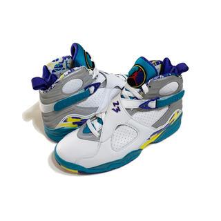 ナイキ(NIKE)の極美品 Nike wmns air jordan8 retro Aqua(スニーカー)