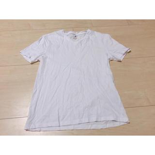 エイチアンドエム(H&M)のH&M メンズ 白 Tシャツ(Tシャツ/カットソー(半袖/袖なし))