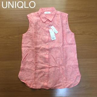 ユニクロ(UNIQLO)のUNIQLO プレミアムリネンシャツ ノースリーブ(シャツ/ブラウス(半袖/袖なし))