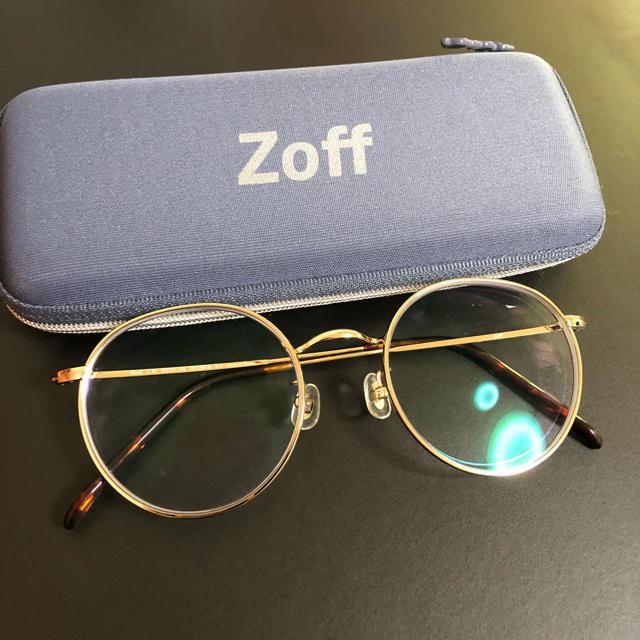 Zoff(ゾフ)のゾフ 丸メガネほぼ新品 ゴールド 今期 レディースのファッション小物(サングラス/メガネ)の商品写真