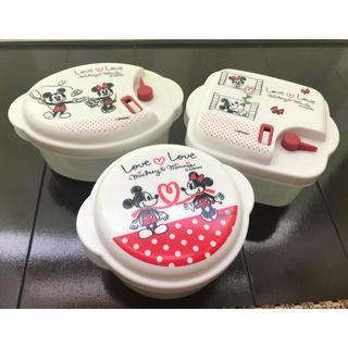 Disney - 【新品】ミッキー&ミニー タッパー 3セット