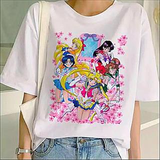 セーラームーン(セーラームーン)の美少女戦士セーラームーン T-shirt Sサイズ(Supersアニメ柄)(Tシャツ(半袖/袖なし))