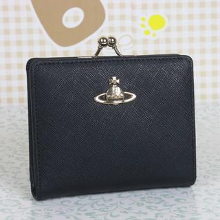 Vivienne Westwood - ヴィヴィアンウエストウッド 折財布 がま口財布 ブラック
