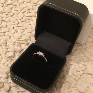 天然ダイヤモンド*ハートシェイプ指輪*0.316ctダイヤ ホワイトゴールド(リング(指輪))