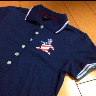 マンシングウェア(Munsingwear)のマンシングウェアネイビーコットンカノコポロ(ポロシャツ)