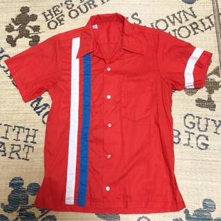 開襟シャツ シャツ ワークシャツ ボーリングシャツ ボウリングシャツ(シャツ)
