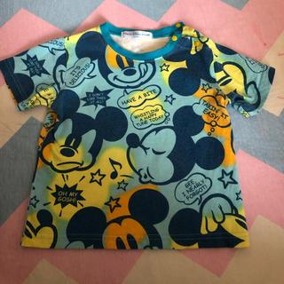 Disney - ディズニー☆キッズTシャツ 総柄ミッキー 90cm