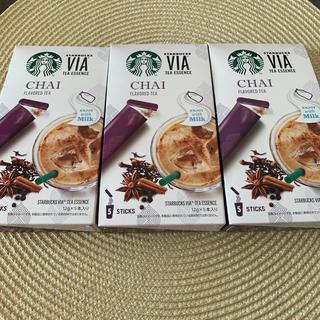 Starbucks Coffee - スターバックス VIA チャイ 3箱