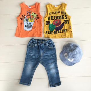 ブリーズ(BREEZE)のブリーズ エフオーキッズ プティマイン☆タンクトップ ズボン 帽子 80 セット(Tシャツ)