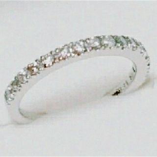 18k. WGハーフダイヤモンドリング(リング(指輪))