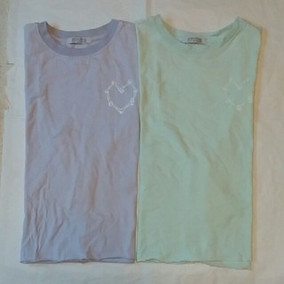 SPINNS - Mサイズ 切りっぱなし Tシャツ 2枚 SPINNS