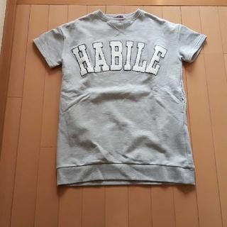 ラブトキシック(lovetoxic)のラブトキシックLovetoxic半袖トレーナーグレービッグロングTシャツS150(Tシャツ/カットソー)