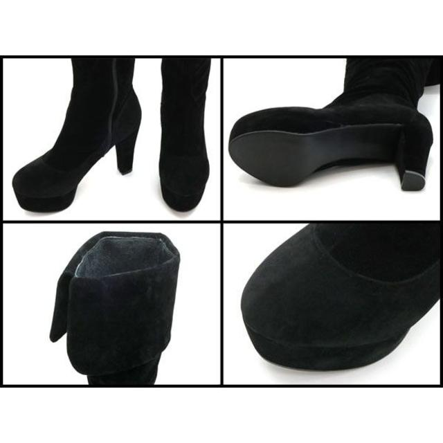 新品 送料込 大きいサイズ 2way ニーハイブーツ ブラック 26cm レディースの靴/シューズ(ブーツ)の商品写真