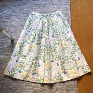 ミナペルホネン(mina perhonen)の点と線模様製作所 ギャザースカート(ロングスカート)