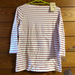 ムジルシリョウヒン(MUJI (無印良品))の無印良品 七分袖ボーダーカットソー L(Tシャツ(長袖/七分))