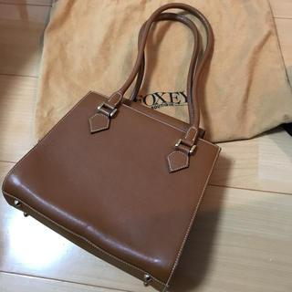 フォクシー(FOXEY)のフォクシーブティック  茶色のハンドバッグ  FOXEY(ハンドバッグ)