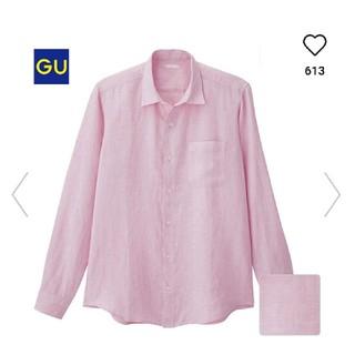 ジーユー(GU)のリネンシャツ 長袖 ピンク ジーユー(シャツ)