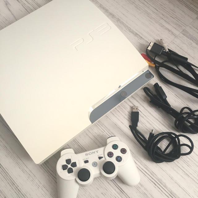 PlayStation3(プレイステーション3)のプレステ3 クラシックホワイト 160GB 中古 エンタメ/ホビーのゲームソフト/ゲーム機本体(家庭用ゲーム機本体)の商品写真