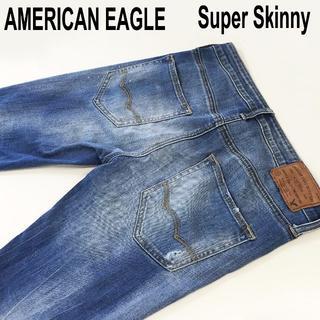 アメリカンイーグル(American Eagle)のAMERICAN EAGLE スーパースキニーダメージ加工W29約78cm(デニム/ジーンズ)
