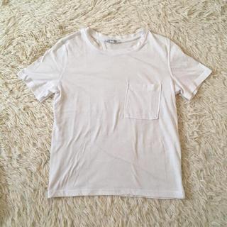 ZARA - ZARA 胸ポケット Tシャツ S ホワイト
