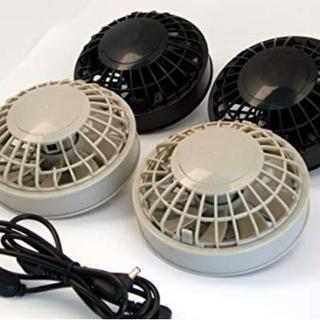 熱中症対策 空調服用ファンセット バッテリー無し(ファン2個・ケーブル)(その他)