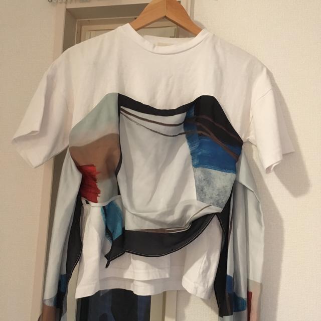 Ameri VINTAGE(アメリヴィンテージ)のEM様専用MEDI DRAWING UNEVEN TEE レディースのトップス(Tシャツ(半袖/袖なし))の商品写真