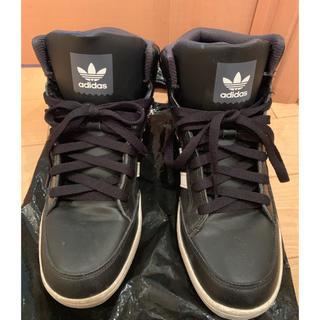 アディダス(adidas)のadidas ハイカット スニーカー 黒(スニーカー)
