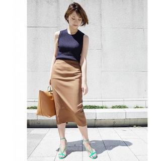 DEUXIEME CLASSE - Deuxieme Classe バックスリットタイトスカート キャメル