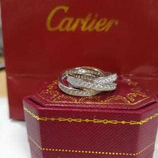 カルティエ(Cartier)の大人気!超美品Cartier カルティエ 指輪 ホワイトゴールド (リング(指輪))