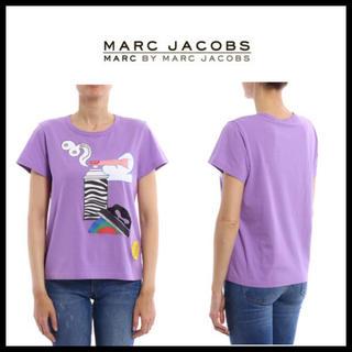 マークジェイコブス(MARC JACOBS)の入手困難★MARC JACOBS  パープル プリント コラボ Tシャツ(Tシャツ(半袖/袖なし))