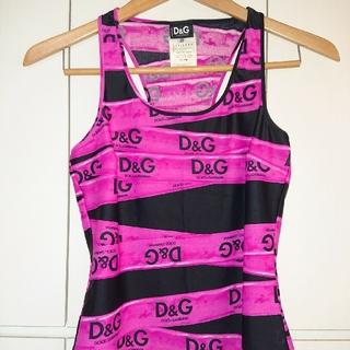 D&G - D&G ドルガバ 42 DOLCE&GABBANA タンクトップ トップス
