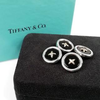 Tiffany & Co. - 希少 美品 ティファニー ボタン カフス オニキス YL66
